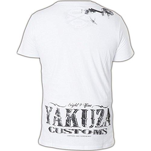 Yakuza T-Shirt TSB-407 Weiß Weiß