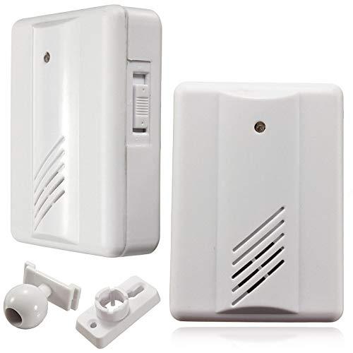 Sguan-wu Einfahrt Garage Bewegungssensor Alarm Infrarot Wireless Alarm System mit Halterung - Weiß (Einfahrt Wireless Alarm)