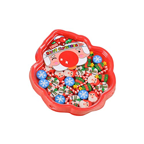 Toyvian 3D Weihnachten Bleistift Radiergummis niedlich Radiergummis Kinder niedlich Schule liefert Weihnachtsfeier bevorzugt