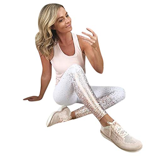 Fitness per Donna Pantaloni da Leggings Allenamento Fashionable Sport Running Yoga Athletic Pants Pantaloni Sportivi Elastici Tights Donna