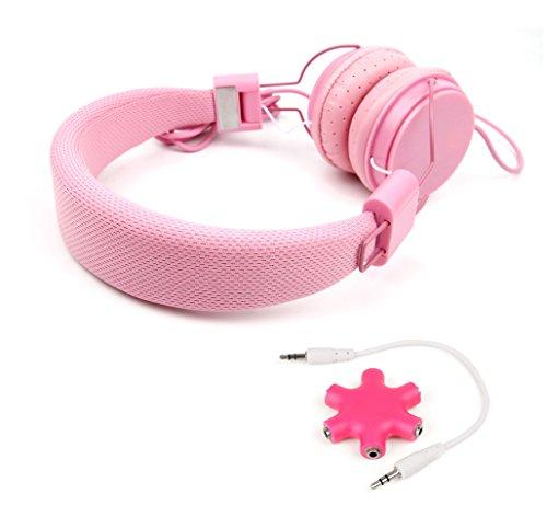 DURAGADGET KIT - Auriculares De Diadema Color Rosa + Divisor Rosa Para Nintendo 3DS XL - ¡Perfecta Combinación Para La Consola De Sus Hijos!