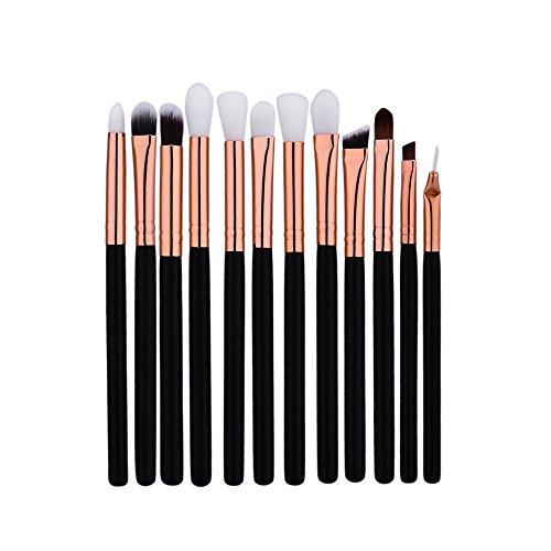 Jamicy® 12 pcs de Mini pinceau cosmétiques pour sourcils. Ensembles d'outils.