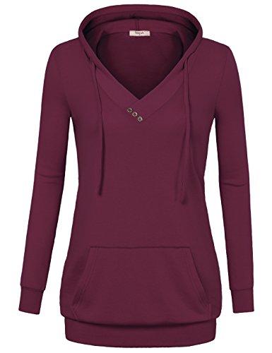 Timeson Damen Kapuzenpullover Gr. xxl, violett, rot (Nike Windshirt Herren)