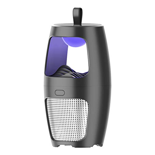 Andouy Elektrischer Insektenvernichter Kontroll-LED-Licht Falle Moskito Lampe(12X12X23cm.Schwarz-2000mAh)