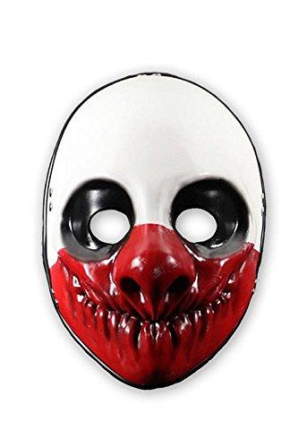 Close Up Payday 2 Maske Wolf aus Vinyl für ()