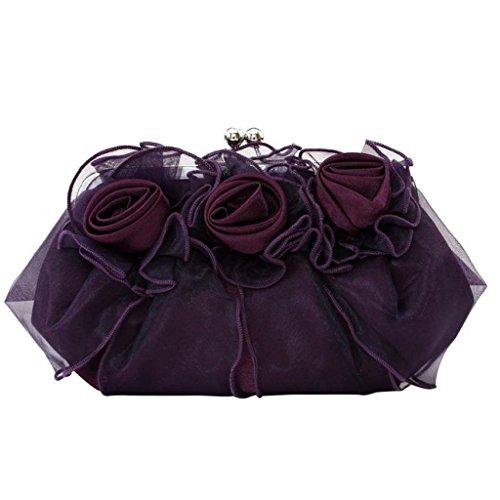 Belsen, Borsa a spalla donna argento Silver Taglia unica Purple