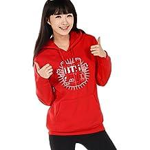 Minetom Mujer Manga Larga Capucha Suéter KPOP BTS Sudaderas con Capucha Bangtan Boys Capa Hoodies Pullover