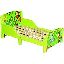 Per bambini a tema giungla verde in legno struttura letto singolo