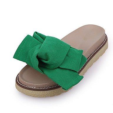 Donne'sscarpe PU Estate ciabatte sandali Casual tacco piatto altri nero / verde / rosso US6.5-7 / EU37 / UK4.5-5 / CN37