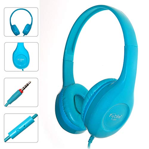 QINPIN Teenager mit Mikrofon Faltbare DJ-Kopfhörer 3,5-mm-Kabel-Spielkopfhörer