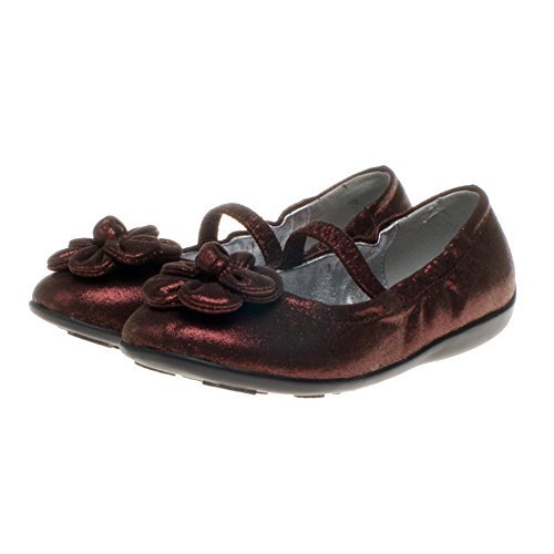 Anna little blue agneau marron motif ballet girls ballerines femme