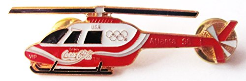 Coca Cola - Atlanta 1996 - VIP Helicopter - Hubschrauber - Pin 30 x 25 mm (Atlanta Kostüme)