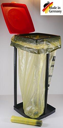 *HG Verlag Müllsackständer bis 90l Ideal für Gelber Sack Passt Top Mülleimer Halter Müllsack Ständer*