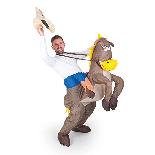 Paul Lamond Games - Disfraz de cowboy con caballo hinchable para adult