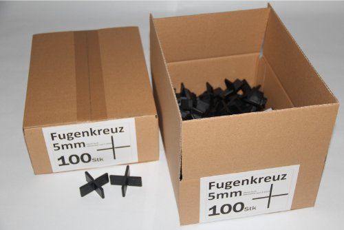 Fugenkreuze 5mm, Bauhöhe 20mm, 100 Stück im Karton