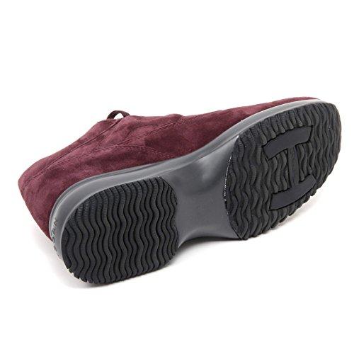 B6544 sneaker donna HOGAN INTERACTIVE scarpa bordeaux shoe woman Bordeaux