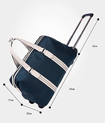 chengyang damen reisetasche mit rollen taschen handgep ck rollig handtasche leichte sporttasche. Black Bedroom Furniture Sets. Home Design Ideas