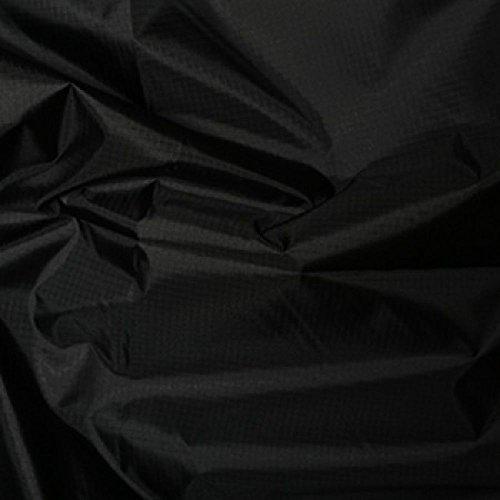 Nero tessuto in poliestere Rip Stop tessuto impermeabile resistente agli strappi 150cm di larghezza-Venduto Al Metro - Uniform Nero