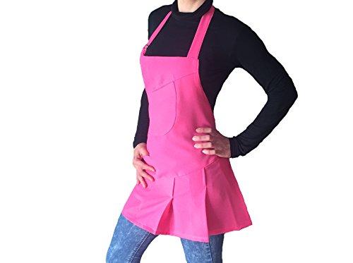 Kosmetikerinnen Jacke (tessile astorino Schürze Frau, Bleichen, für Friseur und Kosmetikerin, Bar, Haarschnitt Friseur, Restaurants, Kneipen, für Frauen, helle Fuchsie, Made in Italy)