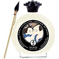 Shunga Pintura Corporal, Aroma de Chocolate Blanco y Vainilla, Color Blanco - 100 ml