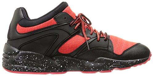Puma Blaze Tech Synthétique Baskets Red Blast-Puma Black