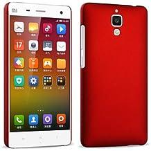 Prevoa ® 丨Original Colorful Hard Plastic Cover Funda Para Xiaomi 4 M4 Mi4 Smartphone - Rojo