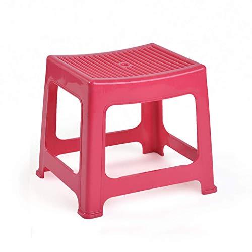 SED Praktische Stuhl Kunststoff Stapelhocker, Rutschfeste Badezimmer-Hocker, Kinder Tritthocker, Home Schuhhocker, Mode Hocker für Wohnzimmer kreative Hocker,Grün