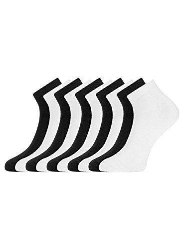oodji Collection Damen Kurze Socken (10er-Pack), Mehrfarbig, DE 38-40 / M (Kurz Collection Damen)