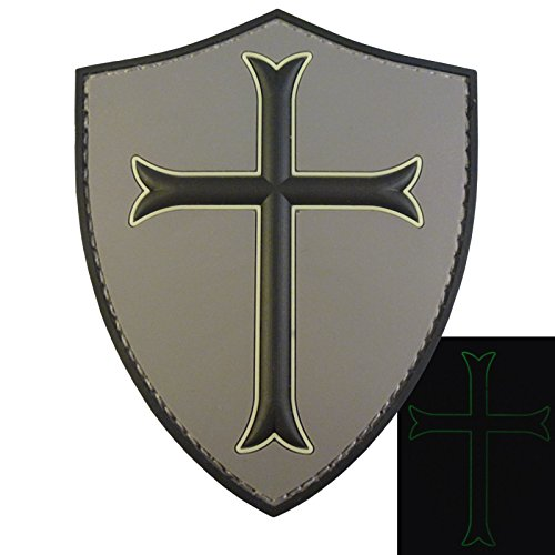 ACU US Navy Seals DEVGRU Crusaders Templar Knight Cross GITD Morale PVC 3D Touch Fastener Aufnäher Patch Seal Team 2 Patch