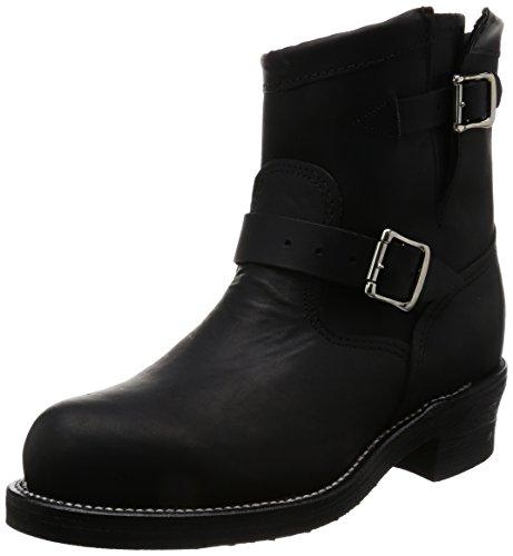 Justin Brands Chippewa 7inch Black Odessa Engineer Steel Toe Boots - US 11 (E) Steel Toe Biker-boots