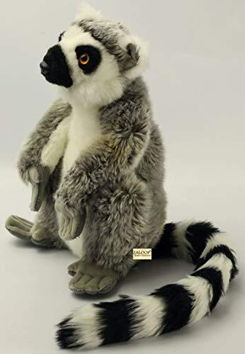 (Katta, Lemur sitzend Grau aus Plüsch ca. 27cm, 45cm mit Schwanz von Zaloop)