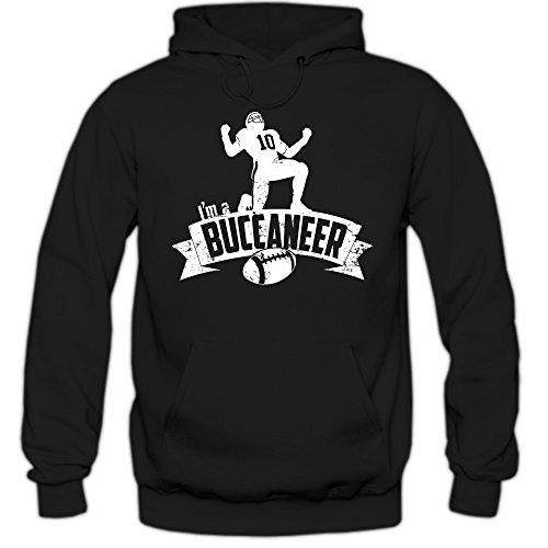 Shirt Happenz Buccaneer #7 Hoodie  Herren   Super Bowl   Play Offs   Football Hoodies   USA   Kapuzenpullover, Farbe:Schwarz (Black F421);Größe:M