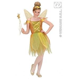 WIDMANN de los niños del traje de 140 cm de oro Bosque Pixie Niño Medio 8-10 años (140 cm) de Peter Pan de hadas del vestido de lujo