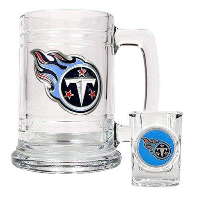 Great American Tennessee Titans Boilermaker Set (15oz Tasse und 2oz Schnapsglas) [Sport] Pilsner Becher-set