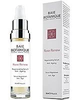 Baie Botanique - Anti-Aging Gesichtsserum - jetzt mit 15% Botanischer Hyaluronsäure - Rosenwasser, Rose Absolue, Hagebuttenkernöl, Glykolsäure.