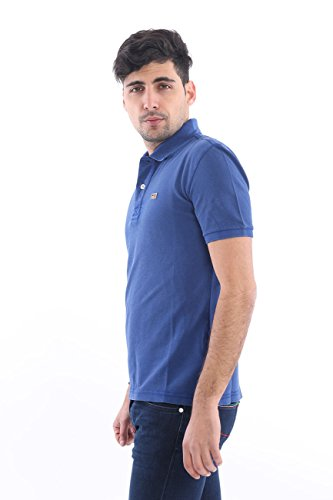 Napapijri Herren Taly neue Polo-shirt Leuchtend Rot Palatine Blue
