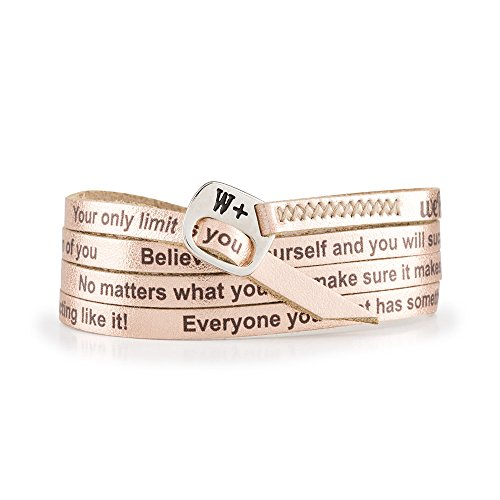 WE POSITIVE SPECIAL BLACK FRIDAY 20% OFF ARMBAND MOTIVATIONAL ENG COL. ORO ROSA