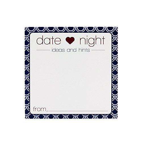 Von & Mark Date Night Ideen & Tipps Karten für Duschen, Hochzeiten, quadratisch, und Partys (50Stück) (Bingo-karten Für Kinder)