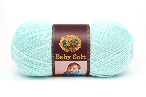 Lion Brand Yarn Company 1 pièce Babysoft, Vert Pastel