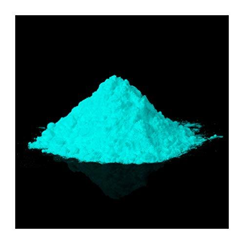 farbpulver lumentics Premium Leuchtpulver - Ultra starke Nachleuchtpigmente, selbstleuchtendes Farbpulver, nachleuchtendes Glühpulver, Farbpigmente (Grün-Blau)