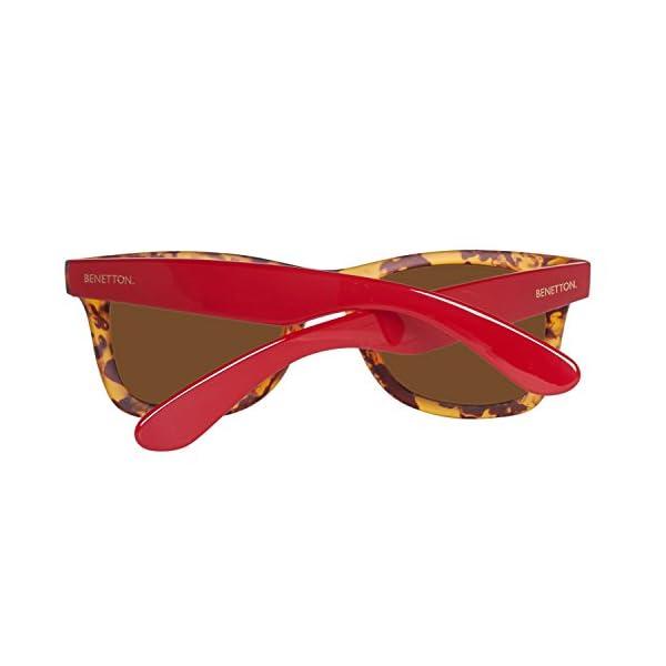 United Colors of Benetton BE986S03 Gafas de sol, Trtois/Red, 50 Unisex
