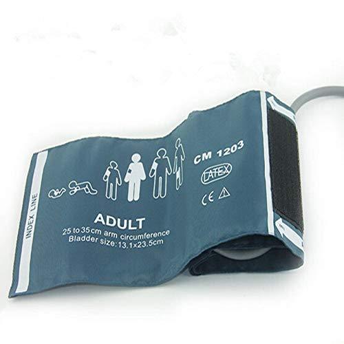 Gimax 10 Stück normale Erwachsene, wiederverwendbar, Nylon, wiederverwendbar, NIBP-Manschette, Einzelschlauch, Blase innen, Monitor, Armmanschettenverbinder -