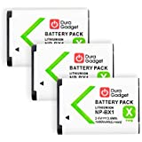 TROIS batteries de rechange pour Sony DSC-HX400, HX400V, H400, HX300, HX50V, HX80, HX90 et HX90V - appareil photo - Li-ion 1000mAH 3.6V 3.6Wh NP-BX1 rechargeable - Garantie 2 ans - DURAGADGET