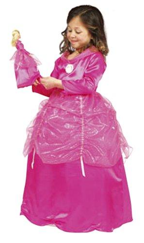 Cesar B831-003 - Barbie Fuchsia Prinzessin mit Puppenkleid Größe 128 (Größeninformation auf Verpackung: 8/10 years, T 3, 128 or 132 cm)