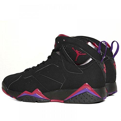Nike air jordan 7 black/tr rd-drk chrcl-clb prpl