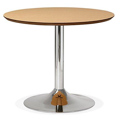Petite Table de Bureau/à Diner Ronde 'Kitchen' en Bois Finition Naturelle - Ø 90 cm