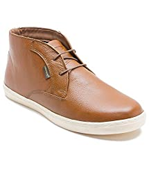 Red Tape Mens Tan Leather Chukka Boots - 8 UK/India (42 EU)