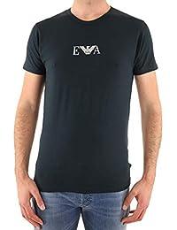 310c7780c44 Lot de 2 tee-shirts col rond Emporio Armani bleu marine floqué du logo Eagle