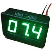10pcs 2 fili DC2.5-30V LED display digitale di tensione del tester di pannello verde