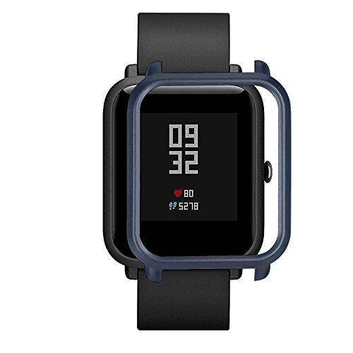 SO-buts Für Huami AMAZFIT Meter beweglichen Jugend Version der Uhr All-Inclusive Schutzhülle explosionsgeschützte Vollbild-LCD-Schutzfolie (Marine)